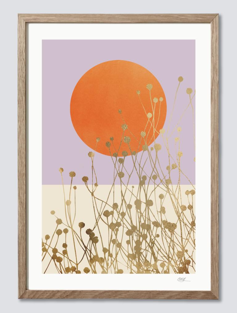 Pastel Farver Flotte Plakater I Pastel Farver Viola Brun Grafisk Plakat Inspirerende Kunst Kunsttryk
