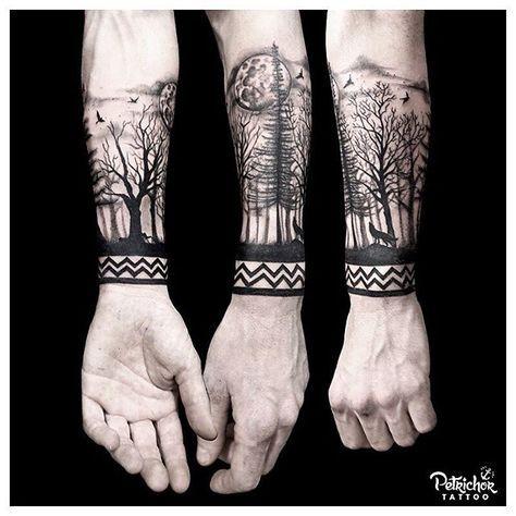 Tatuaje Bosque Antebrazo Buscar Con Google Tatuajes T