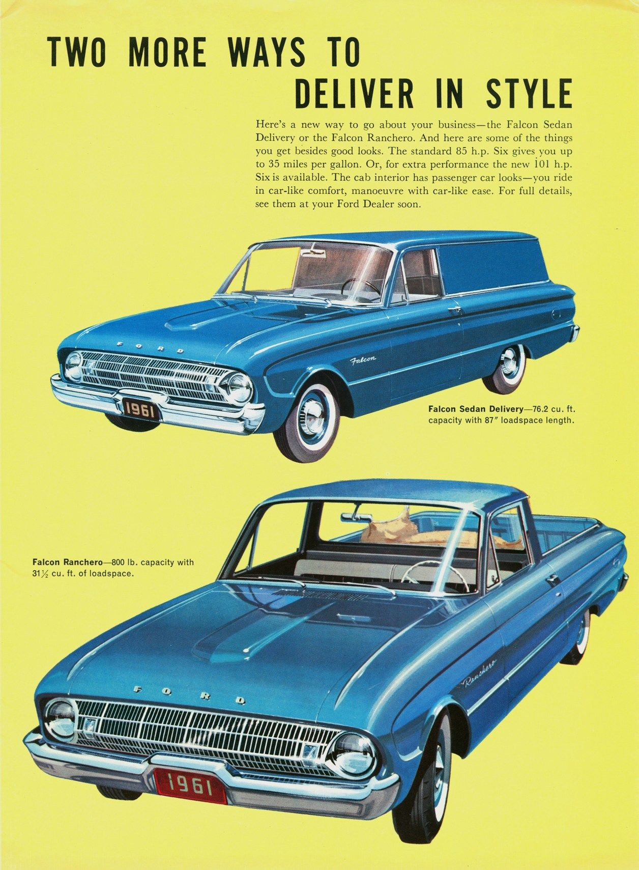1956 ford customline wagon old car hunt - 1961 Ford Ranchero Foldout Car Ads Pinterest Ford Cars And Falcons