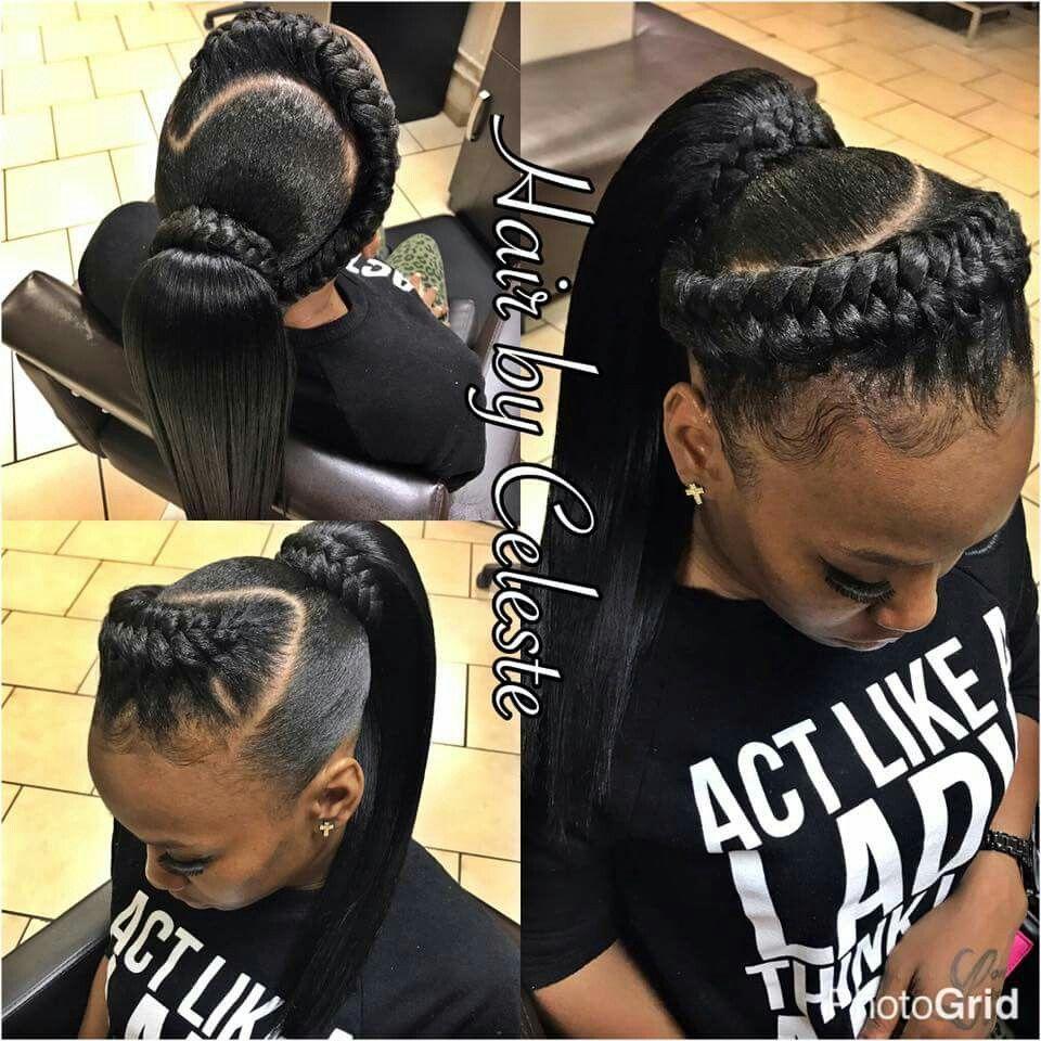 Ponytail braid updo hair styles in pinterest braids hair