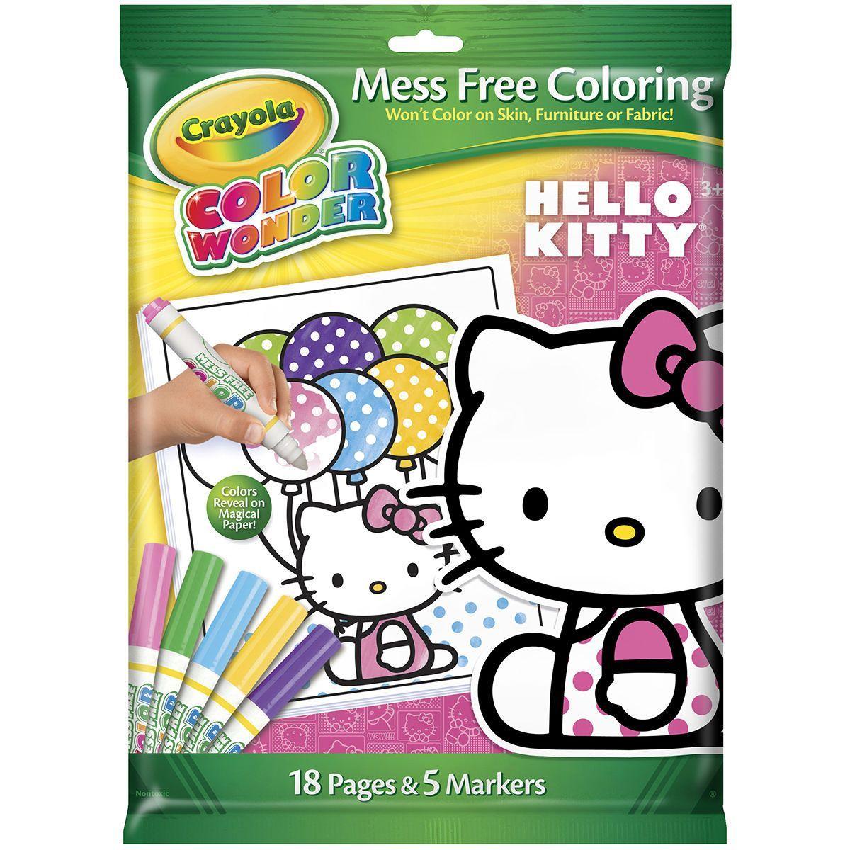 Crayola Color Wonder Mess Free Coloring Kit Hello Kitty Jo Ann Hello Kitty Coloring Color Wonder Hello Kitty Themes