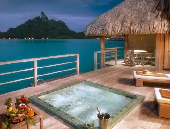 View from St Regis Hotel on Bora Bora, Tahiti