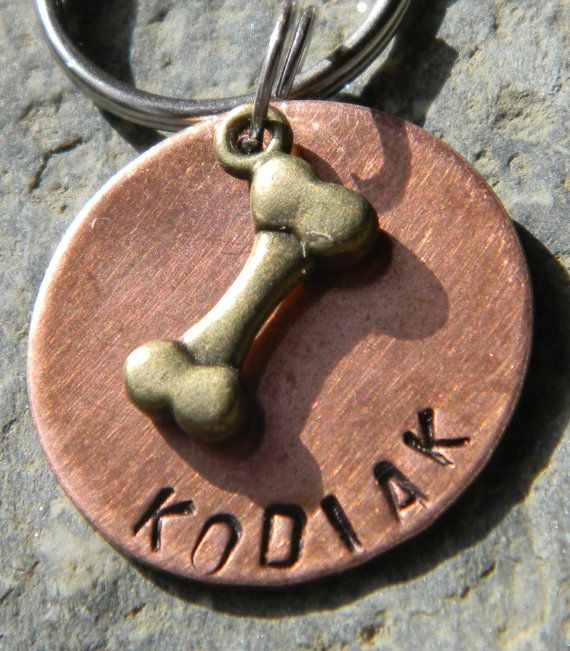 Hey, I found this really awesome Etsy listing at https://www.etsy.com/listing/111601328/dog-tag-with-bronze-bone-made-in-vermont
