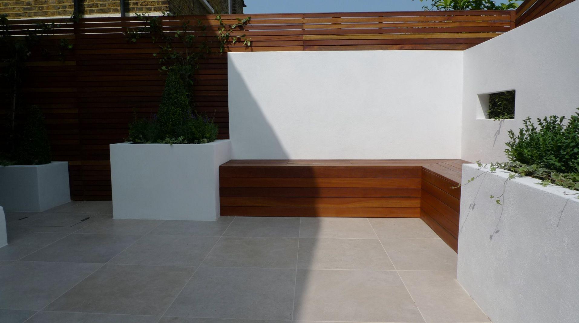 Design Archives Page 15 Of London Garden Blog Hardwood Storage Bench Raised Block Rendered Walls Stunning