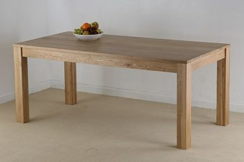 Oakdale Solid Oak 6ft X 3ft Dining Table Dining Table Solid Oak Furniture Dining Table Black