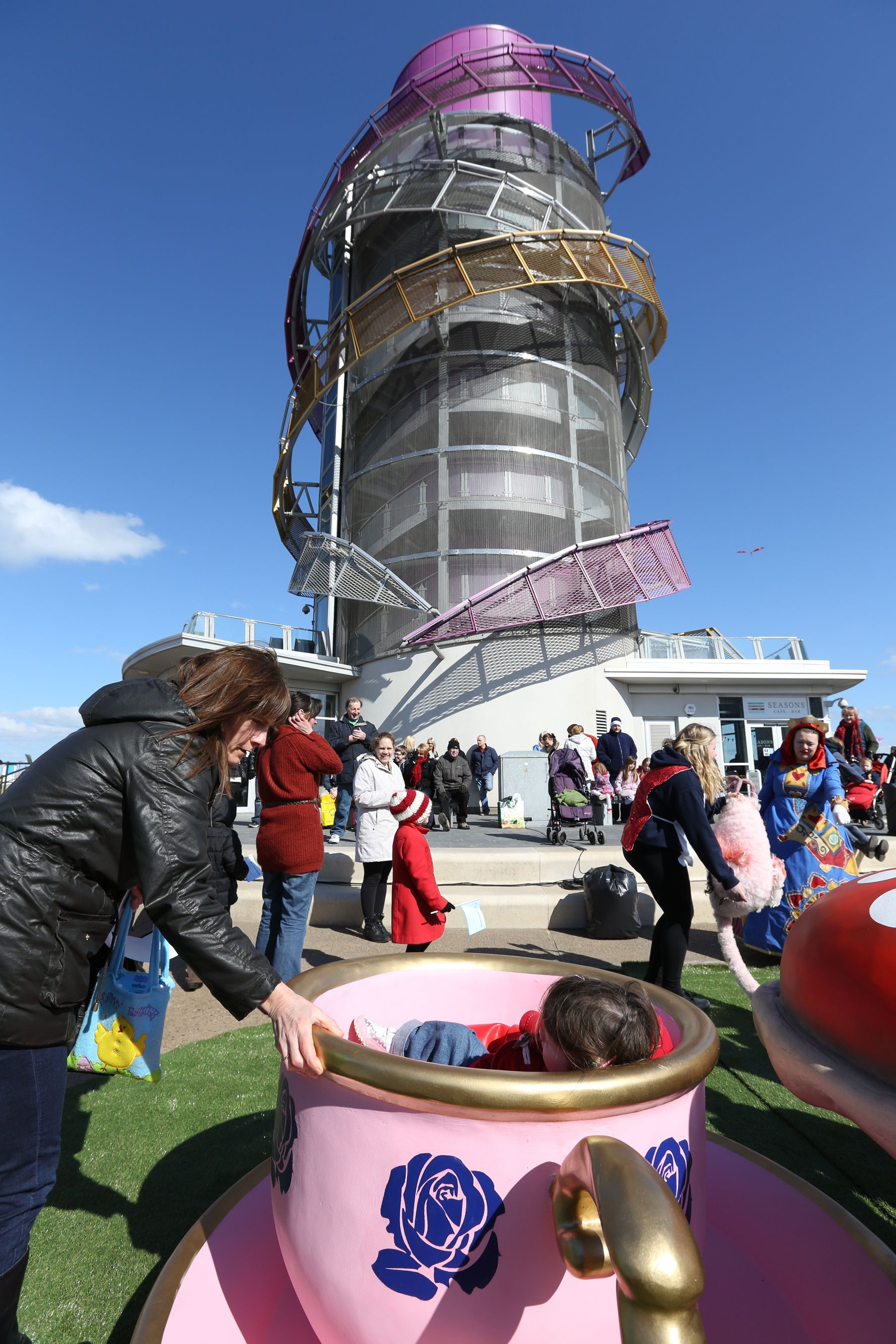 Crowds flock to the Redcar Beacon for its opening weekend.
