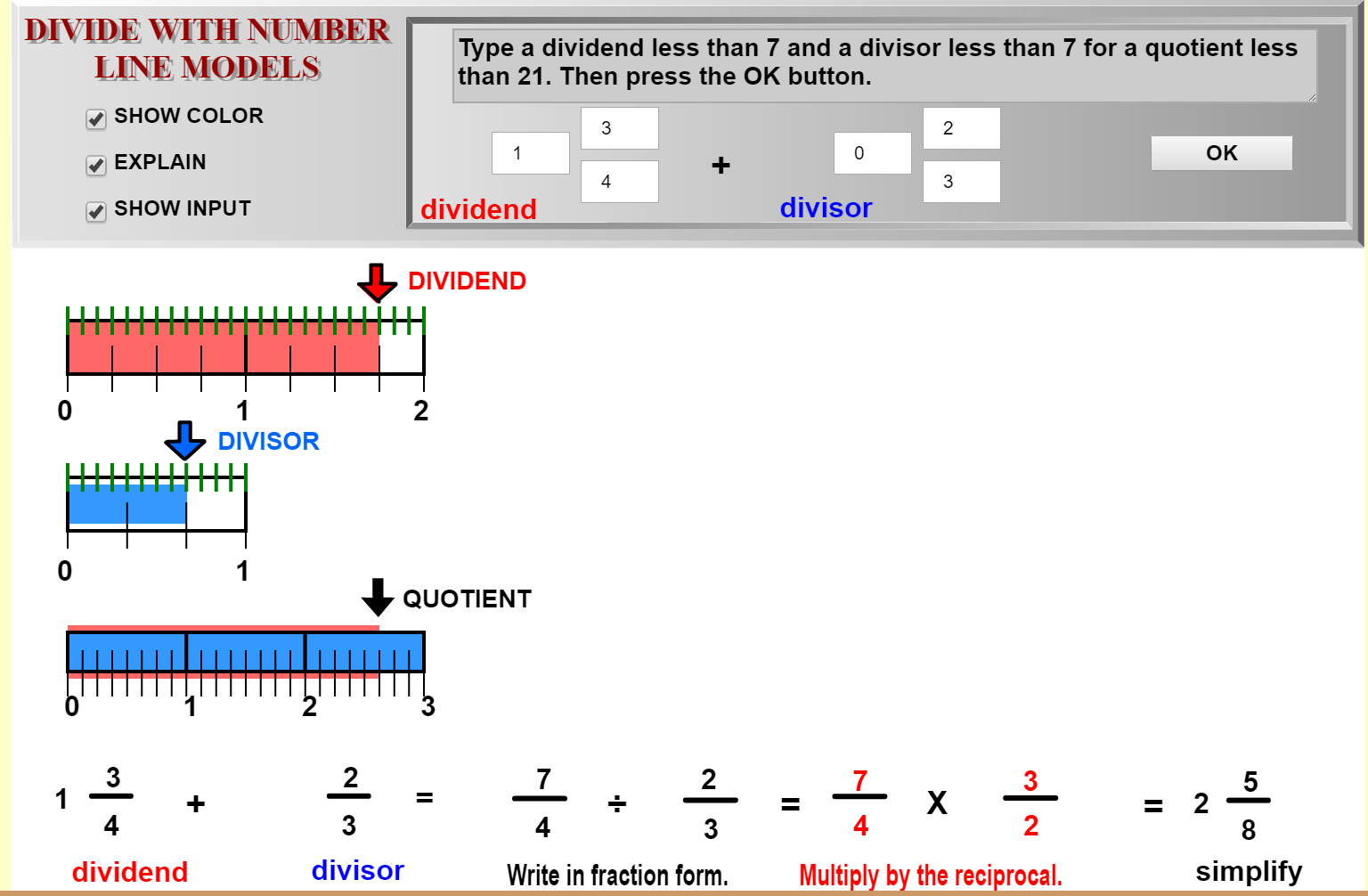 Using Sualfractions To Teach Dividing Mixed