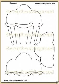 birthday cupcake template overlay pdf sheet templates for cards