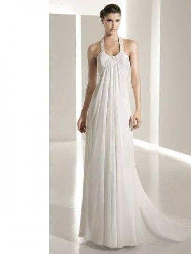 Discount Halter A-line Customer-Made Design Beach Wedding Dress ...