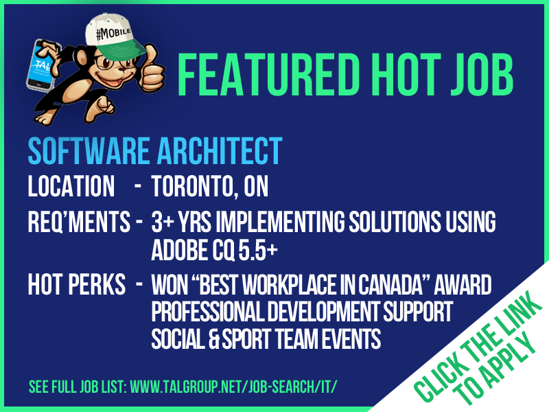 FEATURED JOB: We are hiring a Software Architect in the Toronto ...
