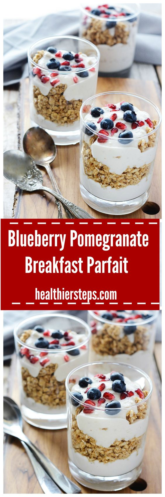 Blueberry Pomegranate Breakfast Parfait
