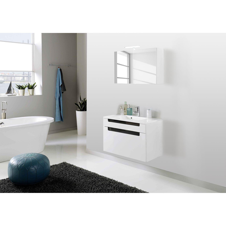 Badezimmermobel Set Weiss Badmobel Massivholz Gunstig Spiegelschrank Badezimmer 70 Cm Breit Badezimmer Reg In 2020 Waschtisch Set Hangeschrank Bad Badezimmer 70er