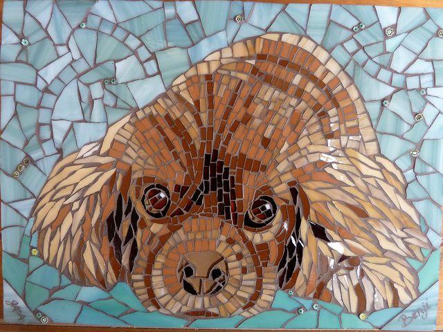 Benji | Cute Mosaic Creatures | Mosaic, Mosaic crafts ...