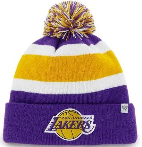 2415628a26aa7 NBA  LosAngeles  Lakers  47 Brand Breakaway Cuff Knit Hat with Pom ...