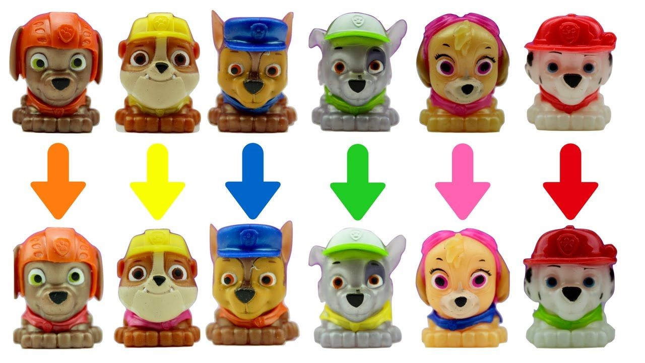 Paw Patrol Toy Mashems Squishy Mixup LEARN COLORS Best Fun ...