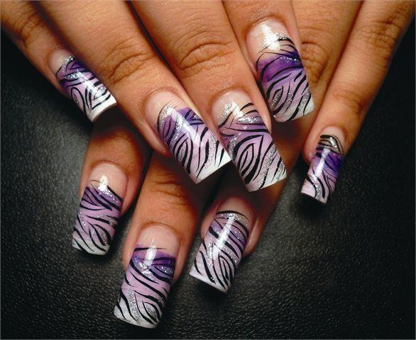 These Zebra Nails Are Wild Zebra Nails Ombre And Zebra Nail Designs