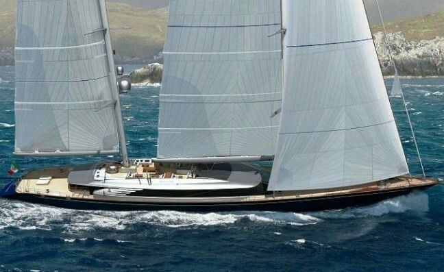 SYBARIS The 70 metre sailing yacht Sybaris is a milestone