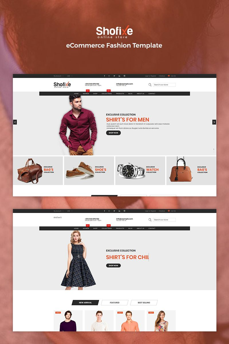 Shofixe Ecommerce Fashion Website Template Website Themes