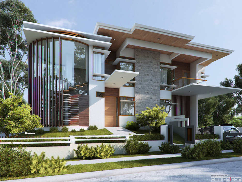 Design Con Projects On Behance Modern Exterior House Designs House Architecture Styles Facade House