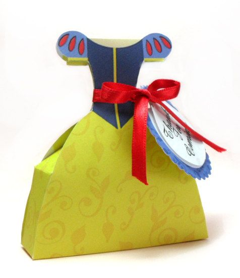 Snow White Favor Box, Inspired, Snow white dress, Instant Download, Printable favor box