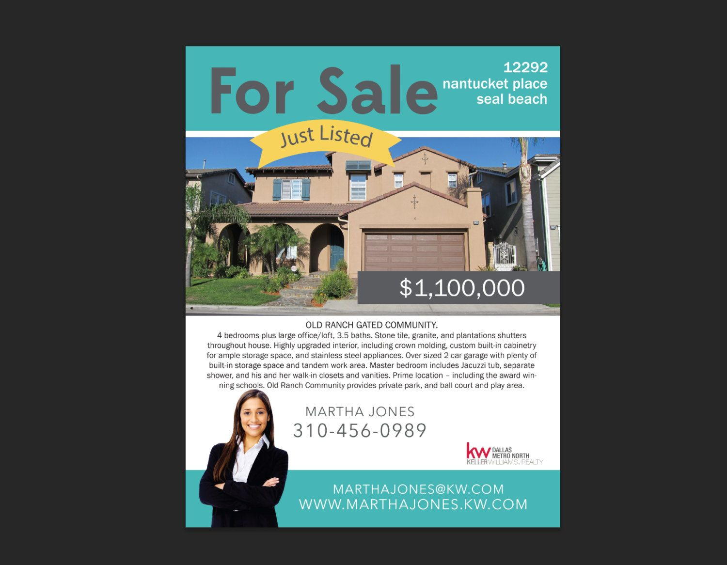 Simple Premade Template For Realtors Real Estate Agents For - Real estate just sold flyer templates