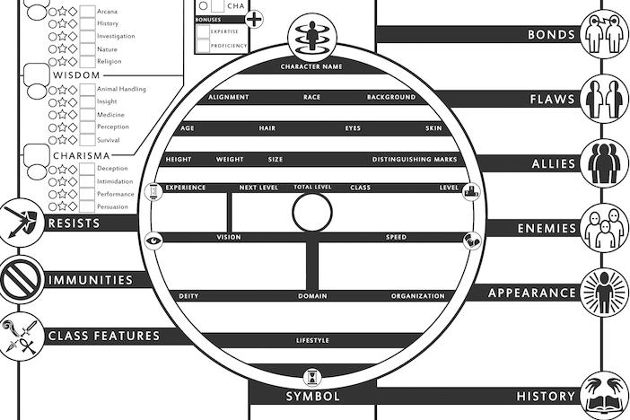 best d&d 5e character sheet character-centered d&d e character sheet | character sheet, d&d