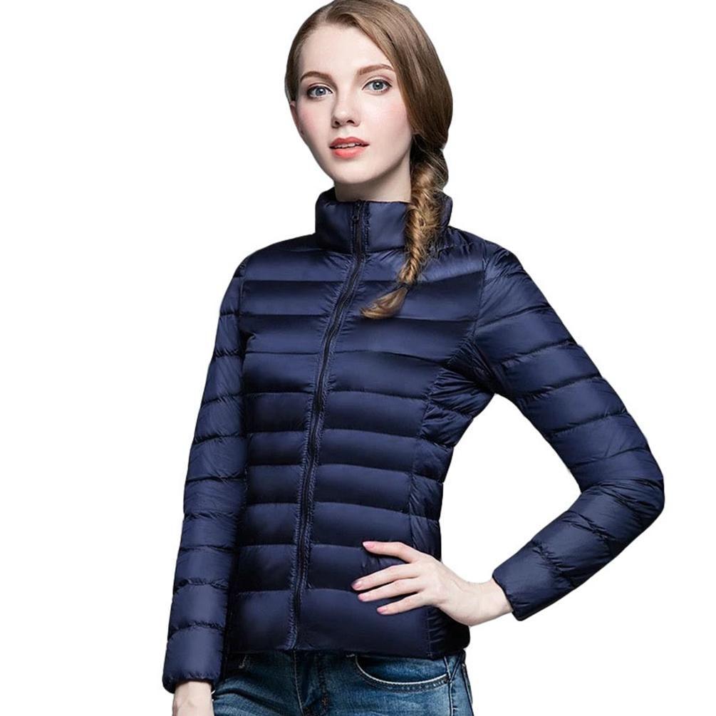 Women/'s Short Down Jacket Lightweight Stand Collar Slim Coat Winter Warm Puffer