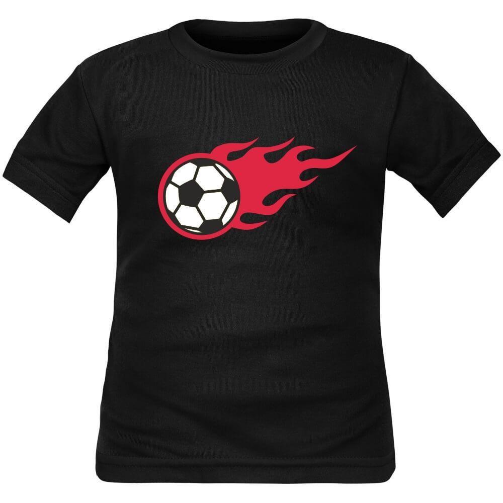 Tee shirt enfant de sport Ballon de FOOT en flammes T