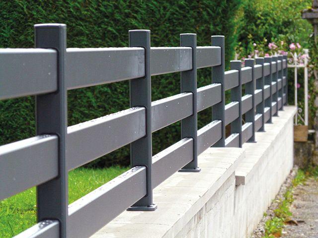 cl ture contemporaine aluminium mod le mistral sp cial 3 lisses barreaux alu 100x40 mm. Black Bedroom Furniture Sets. Home Design Ideas