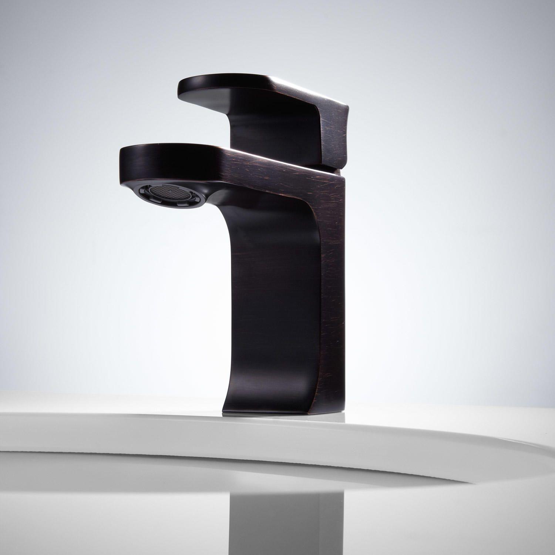 Portico Single-Hole Bathroom Faucet - Pop-Up Drain - Overflow - Dark ...