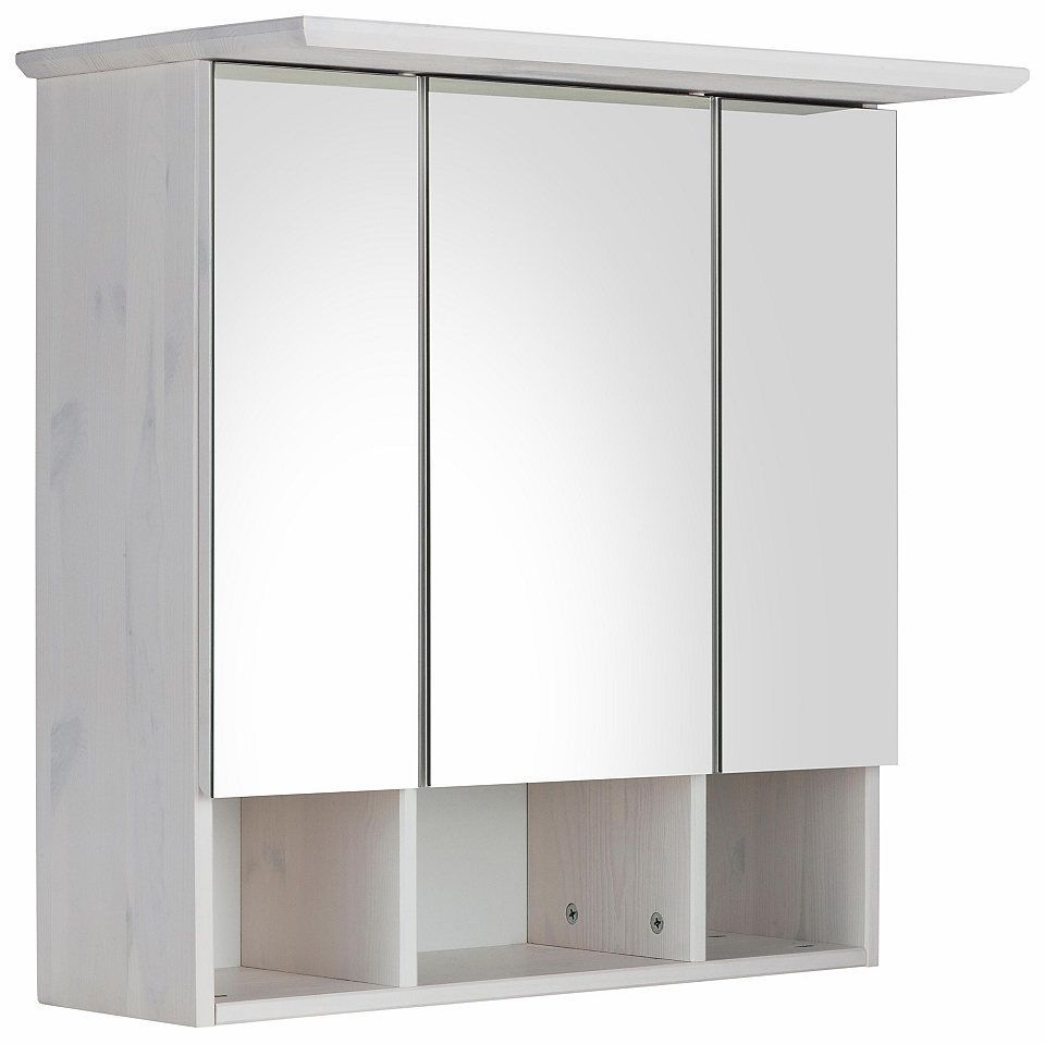 Welltime Spiegelschrank »Vili« 3türig, aus Massivholz