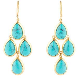 Julie Vos Grande Chandelier Turquoise Earrings
