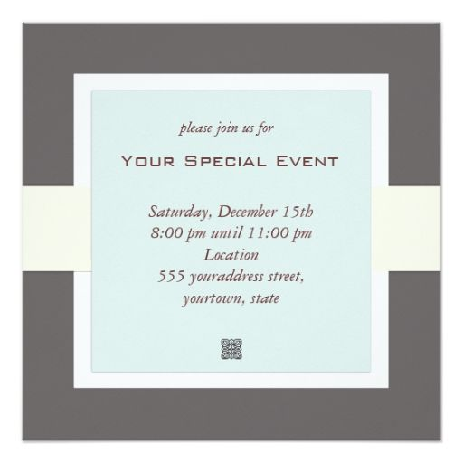 Clean and Simple Business Event Invitation Pinterest Business