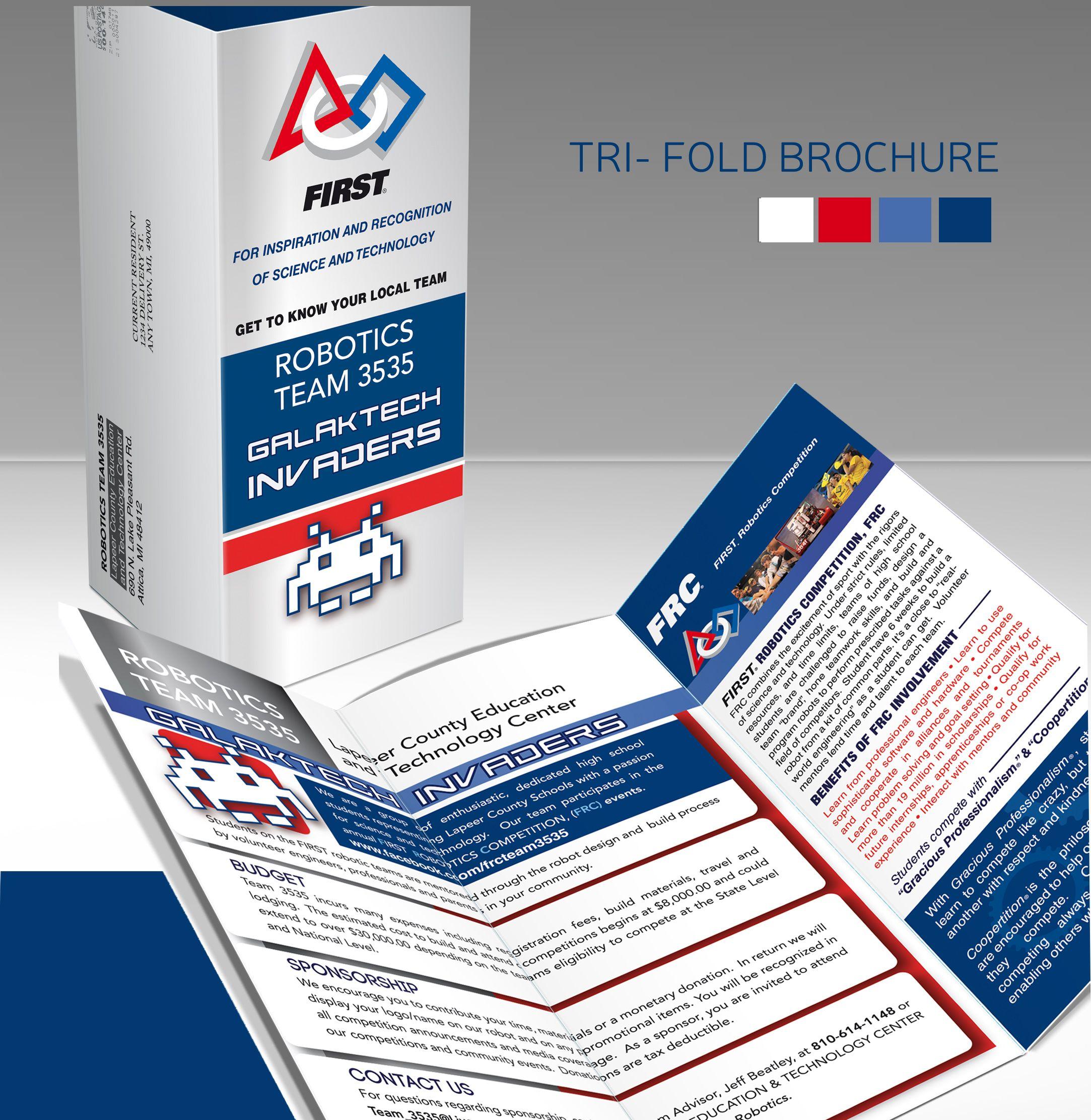 Tri Fold Brochure To Promote Local Frc Robotics Team 3535 Go