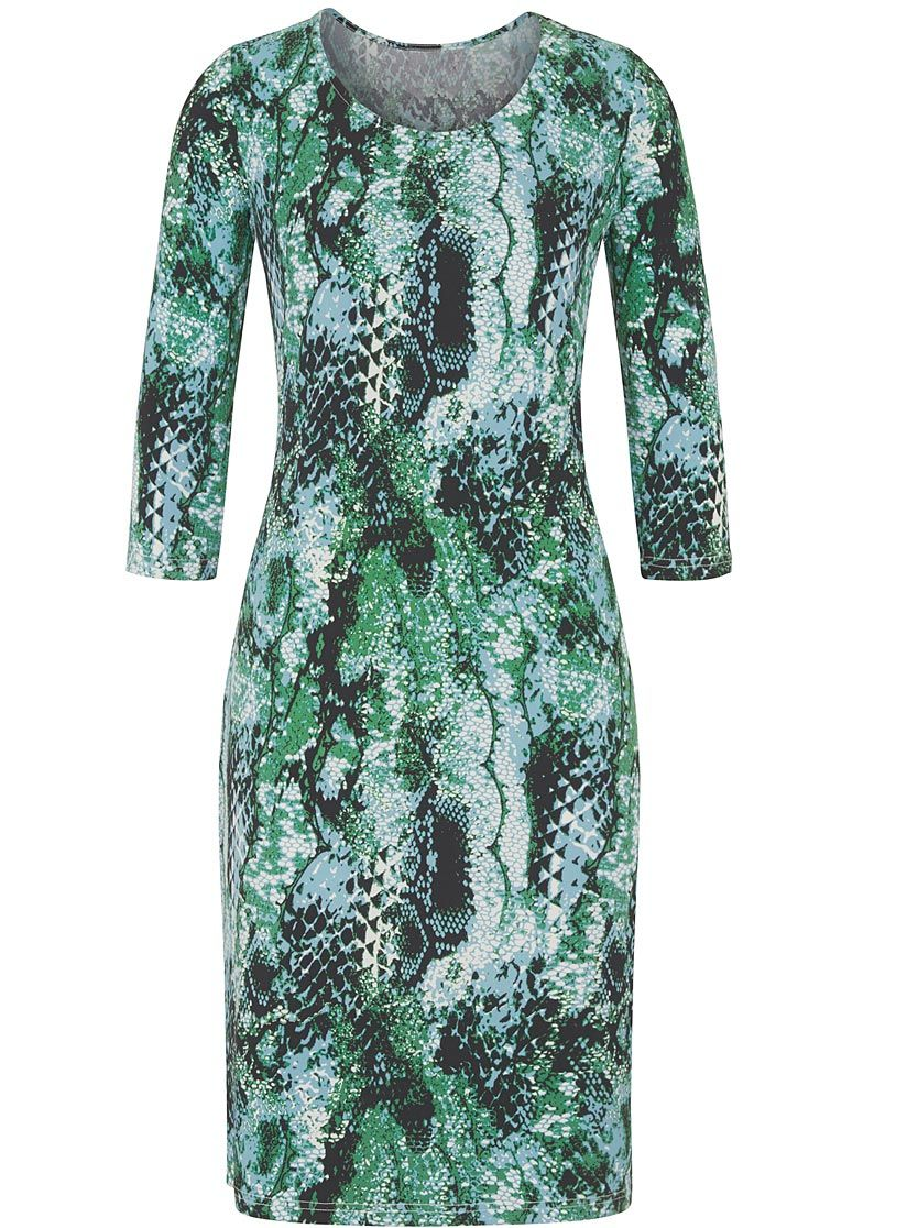 Ambria Kleid in grün-gemustert  Kleider damen, Kleider, Exklusive