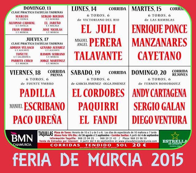 PEÑA TAURINA  PACORRO: FERIA DE MURCIA 2015