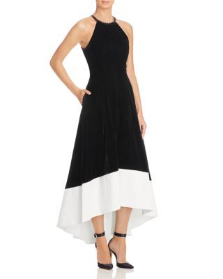 a414254cd31 Carmen Marc Valvo Infusion Velvet   Satin Dress