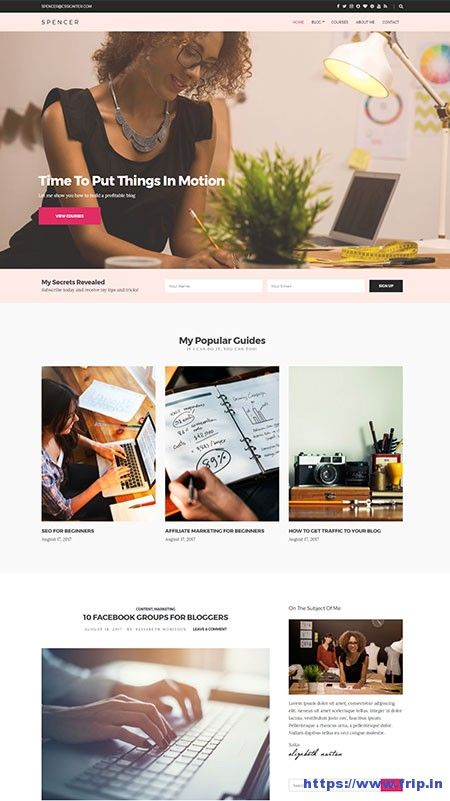 New Theme: Spencer Blogging WordPress Theme By Cssigniter Themes ...