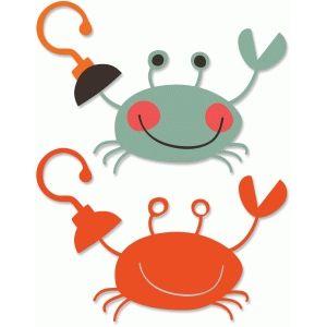 pirate crab silhouette design
