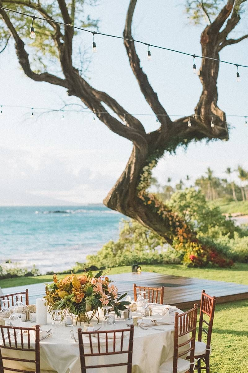A Luxury Hawaii Wedding With An Ombre Floral Installation ...