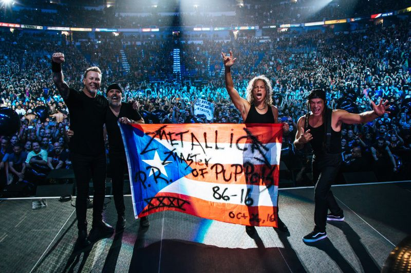 San Juan, Puerto Rico - October 26, 2016 - Metallica
