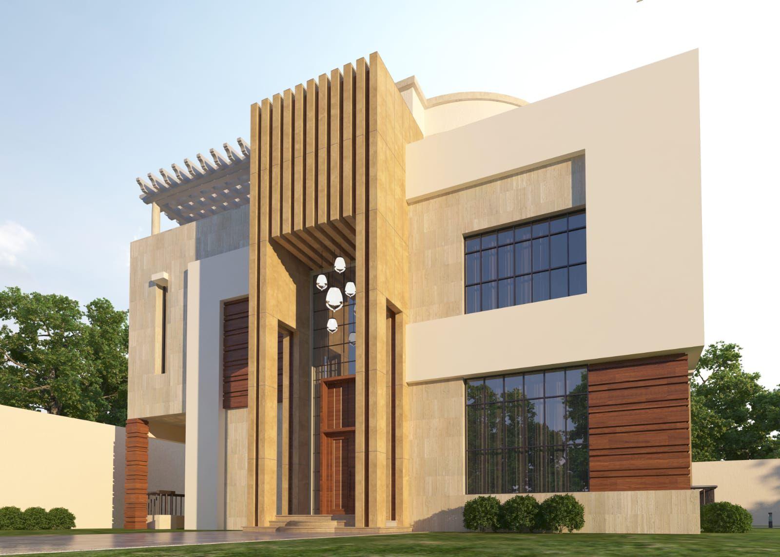 تصميم فيلا نيوكلاسيك House Styles House Building