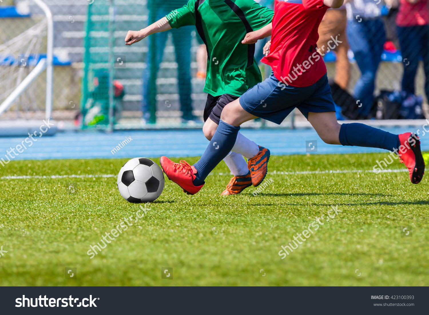 Players Playing Football Soccer Game Running Players In Green And Red Outfit Sports Uniforms Ad Sponsored Playing Football Soccer Games Football Soccer