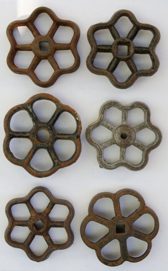 Flower Power - Industrial Bouquet- Set of 6 Unique Steel Vintage ...