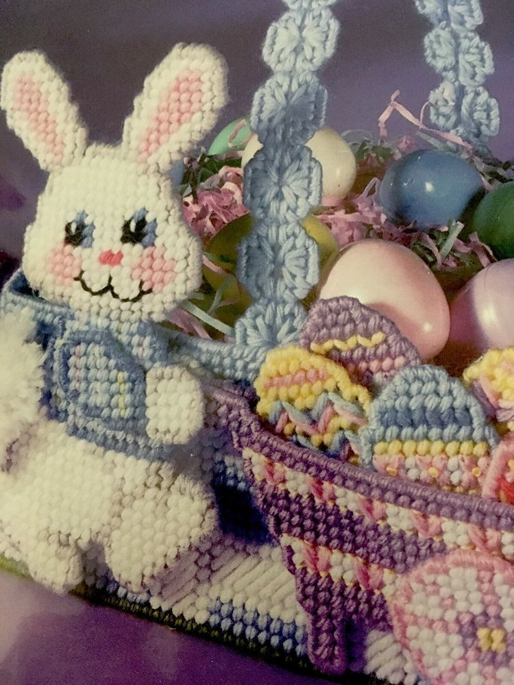 It's just an image of Free Printable Easter Basket Plastic Canvas Patterns in needlepoint