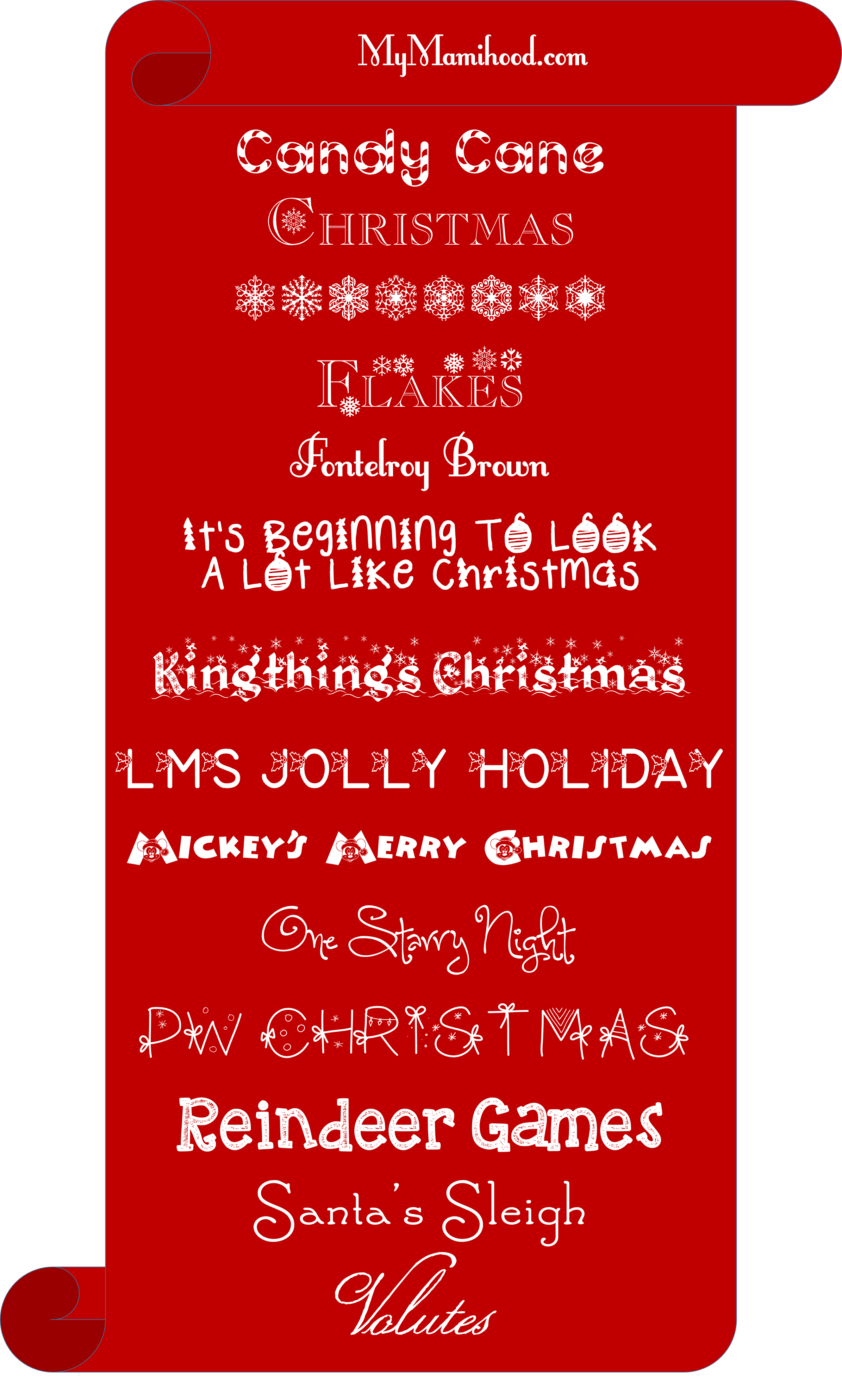 14 Free Christmas Fonts Christmas fonts, Cool fonts