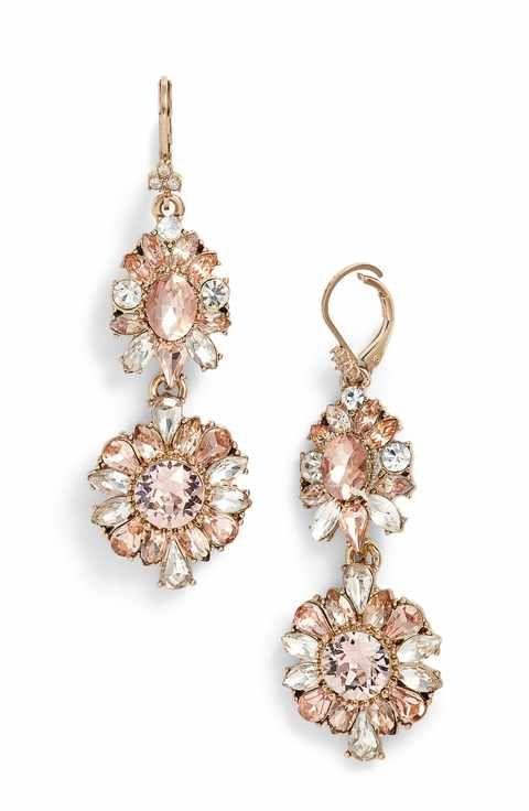 gemstone drop earrings - Grey Marchesa 9S4lXpF