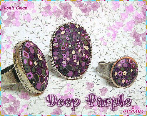 Deep Purple Rings | by Ronit golan