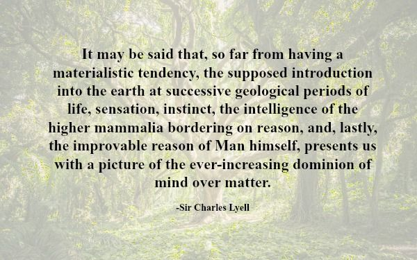 Lyell quote: It may be said…