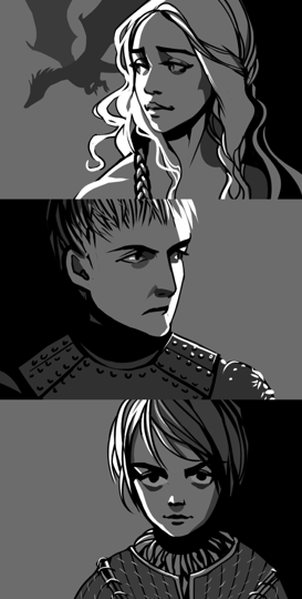 Game Of Thrones by ~MaGLIL on deviantART Arya and Danaerys are wicked cool